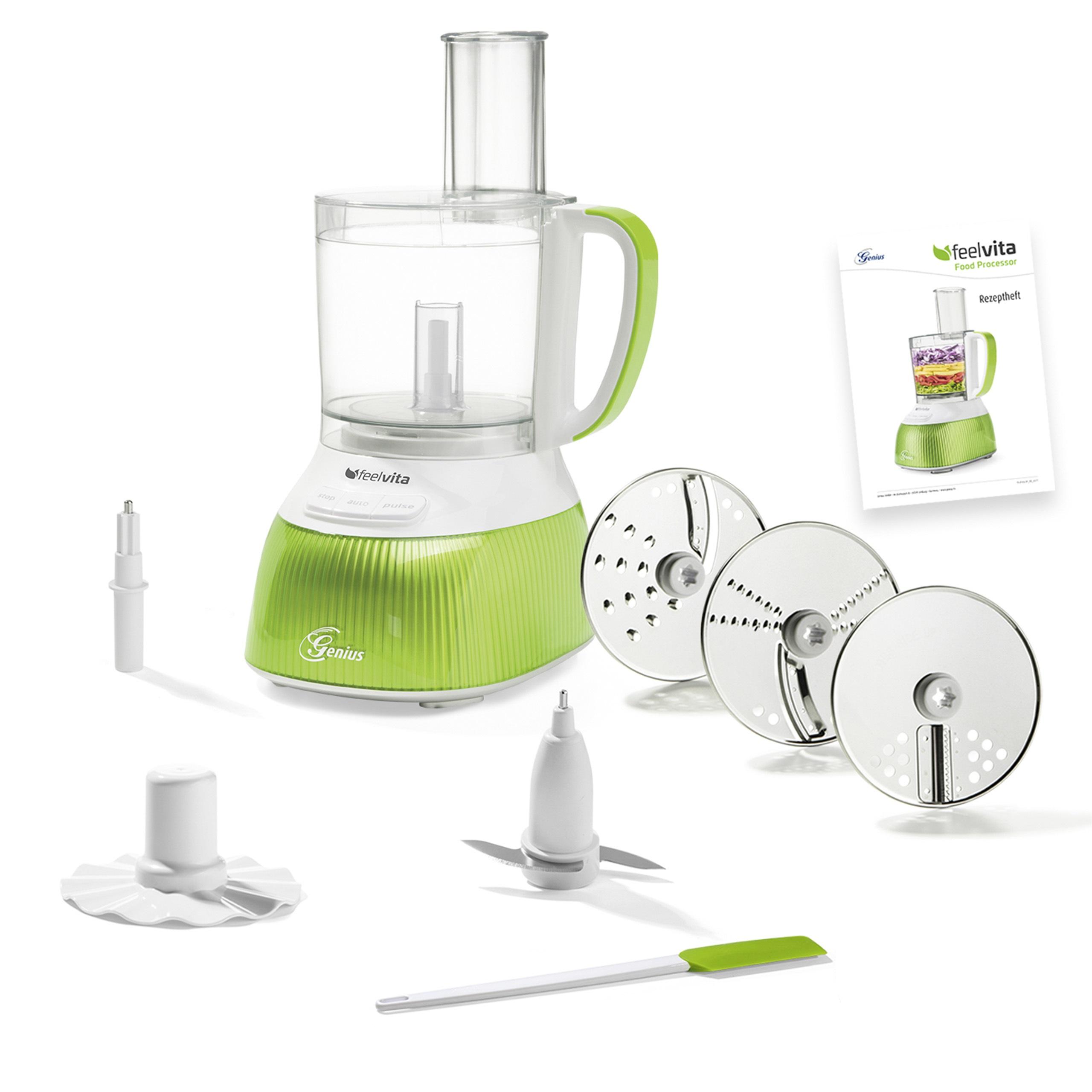 Feelvita | Food Processor inkl. Zubehör (Set 12tlg.)