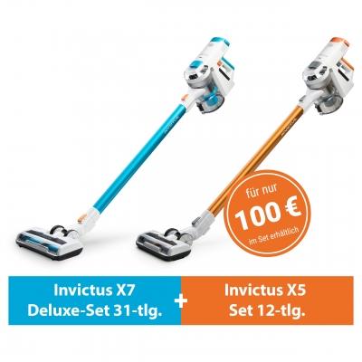 Invictus X7 und X5 (Deluxe-Set 43-tlg.) | Akkustaubsauger inkl. X Water