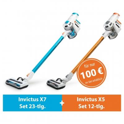 Invictus X7 und X5 (Deluxe-Set 35-tlg.)   Akkustaubsauger