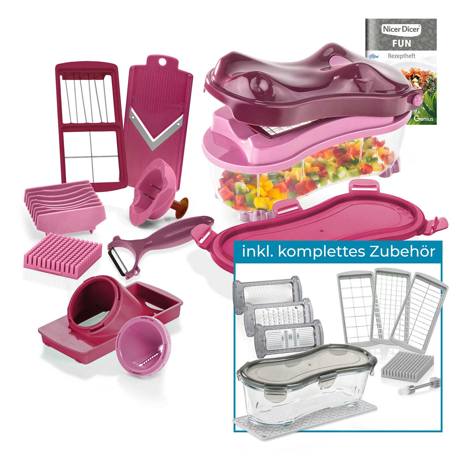 Nicer Dicer Fun | Hippo | Deluxe-Set 25-tlg.