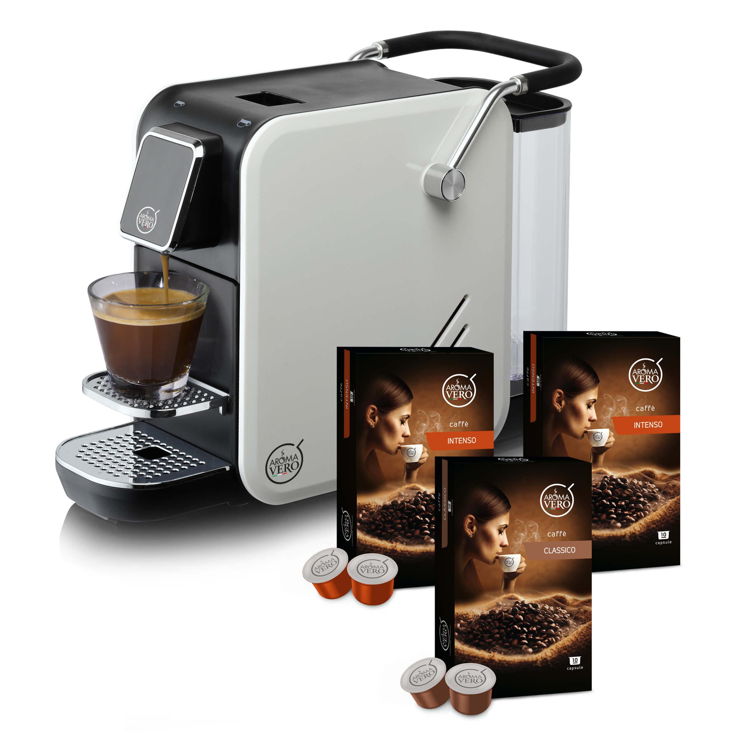 Aroma Vero | Kapselmaschine für Kaffee und Tee | inkl. Kapseln