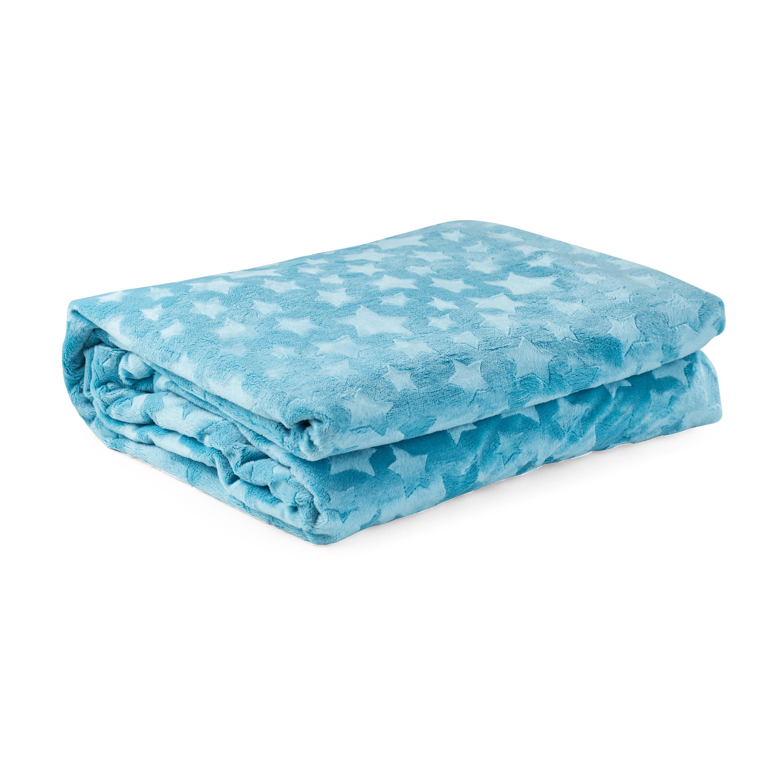 eazzzy | Kuscheldecke/Bettbezug für Kinder 100 x 135 cm (Blau)