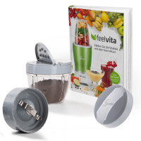 Feelvita | Nutri Mixer Mahl-Set inklusive Rezeptbuch (5tlg.)