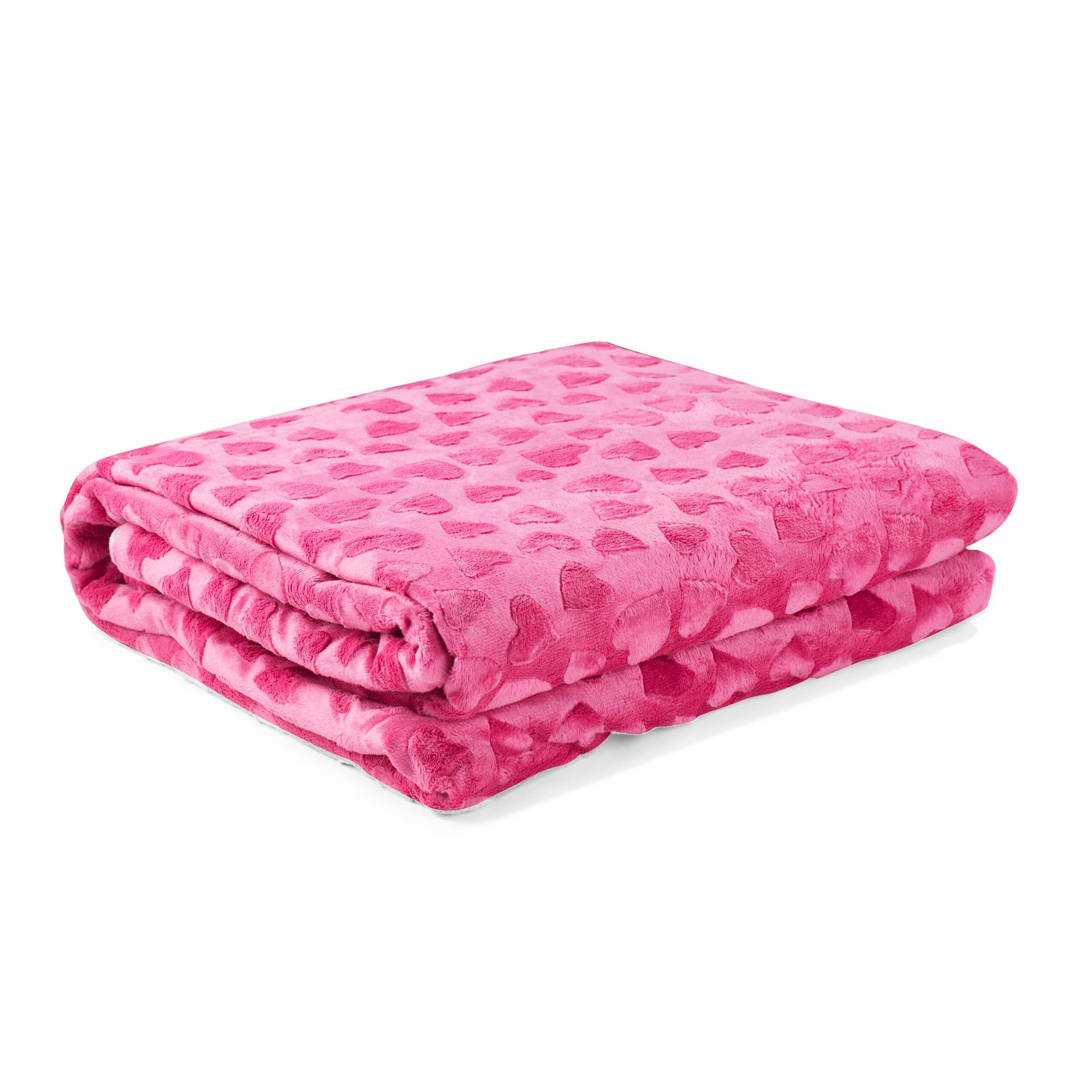 eazzzy | Kuscheldecke/Bettbezug für Kinder 100 x 135 cm (Pink)