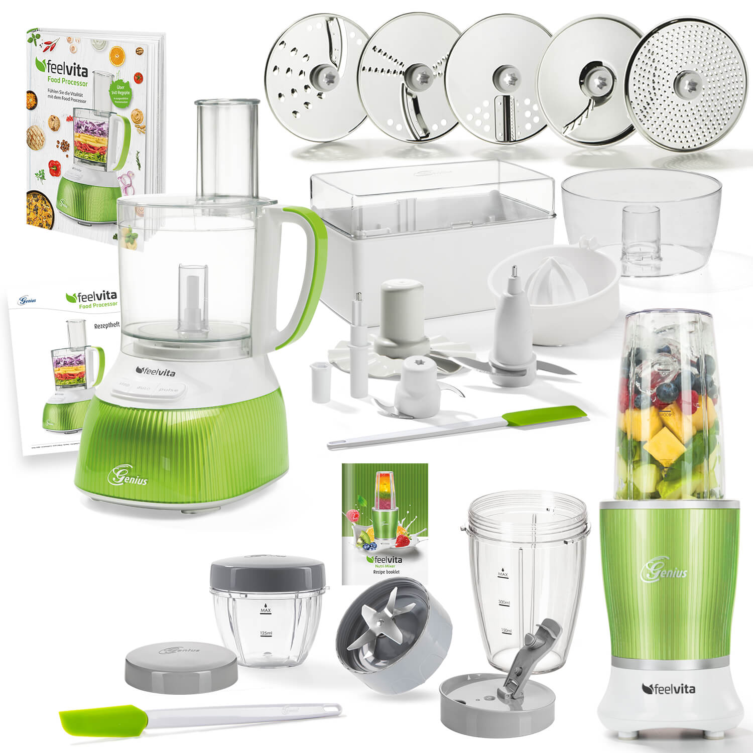 Genius Feelvita Food Processor Deluxe (Set 31tlg.)