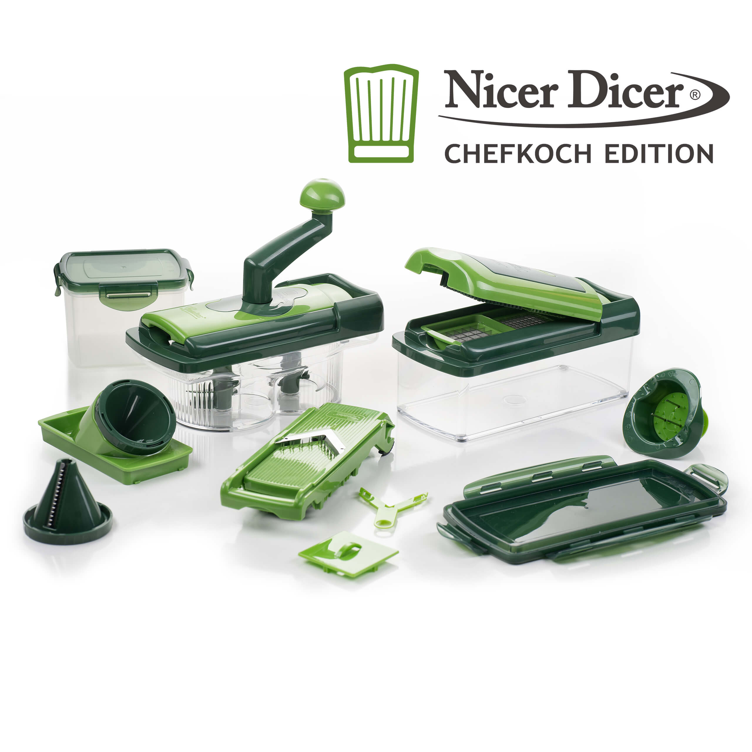 nicer dicer chefkoch edition set 20tlg inkl rezeptheft nicer dicer fusion nicer dicer. Black Bedroom Furniture Sets. Home Design Ideas