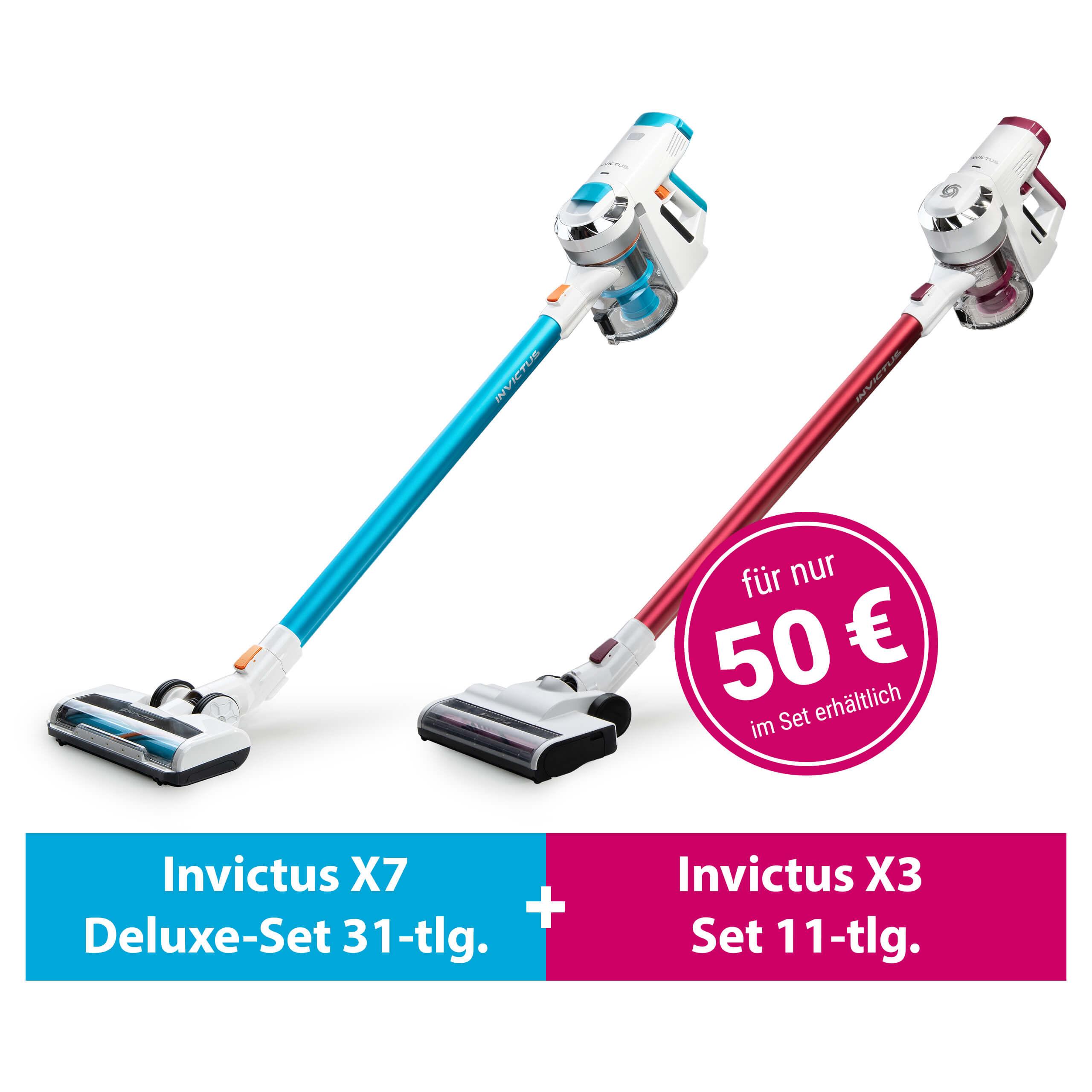 Invictus X7 und X3 (Set 42-tlg.) | Akkustaubsauger inkl. Zubehör