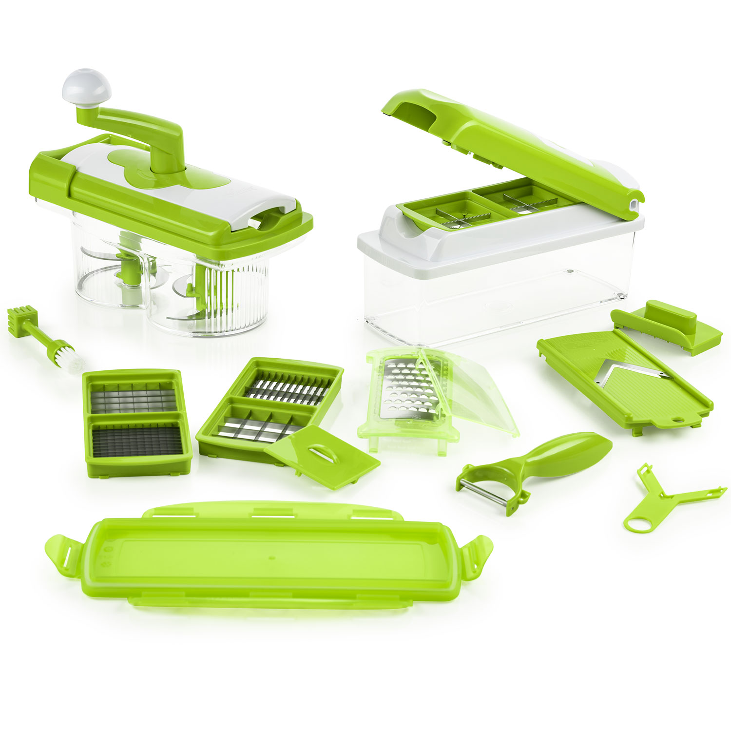 nicer dicer plus set 21tlg nicer dicer plus nicer dicer schneidger te genius online shop. Black Bedroom Furniture Sets. Home Design Ideas