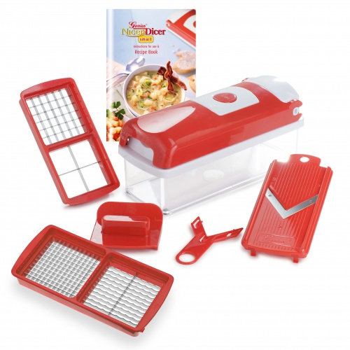 genius nicer dicer smart rot 6 teile alles schneider tv neu ebay. Black Bedroom Furniture Sets. Home Design Ideas